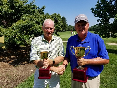 (l to r) Runner Up Scott Matthews & Winner John Reed