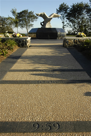 Photo of 911 walkway and memorial