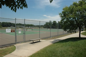 Photo of tennis courts at Dorbrook Recreation Area