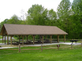 hill top picnic shelter at holmdel park